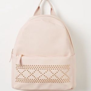 Handbags - 🎀 NEW Baby Pink Faux Leather Backpack School Bag