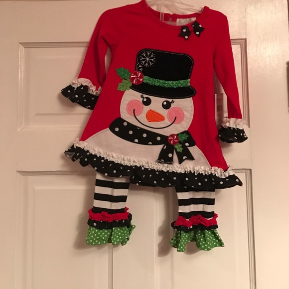 09833886d Emily Rose Matching Sets | Ruffled Snowman Set | Poshmark