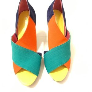 United Nude Shoes - United nude color block elastic heels