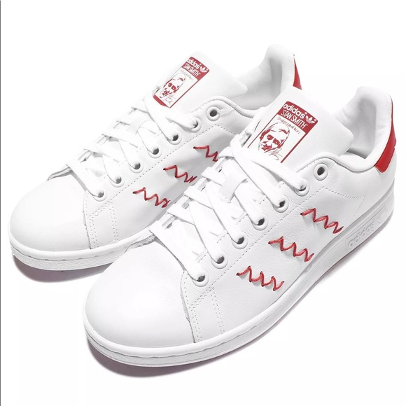 Adidas Stan Smith White/Red Zigzag Classic Trainer
