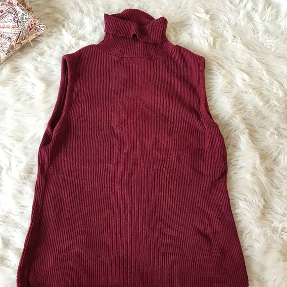 The Great American Sweater Company Sweaters   Great American Sweater Co.  Sleeveless Turtleneck