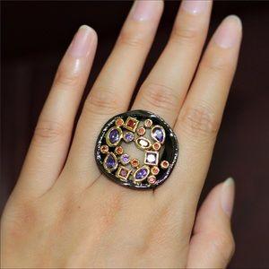 Jewelry - AAA Cubic Zirconia Black Gun Plated Ring sz 8