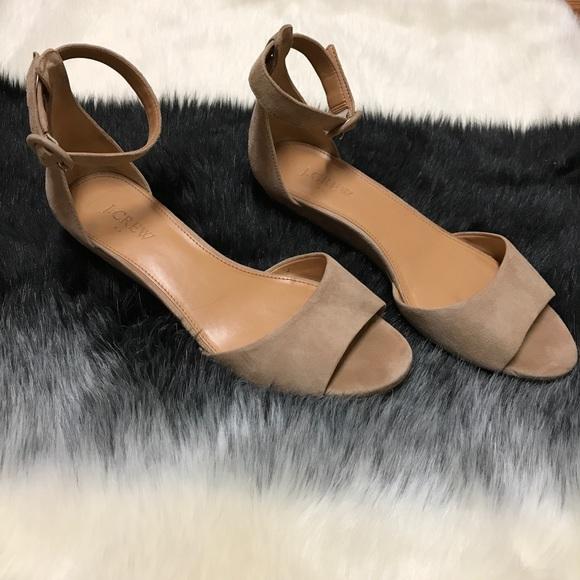 75494a46b71 J. Crew Factory Shoes - J.Crew Suede Demi-Wedge Sandal