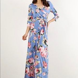 Dresses & Skirts - Floral Wrap Maxi Dress
