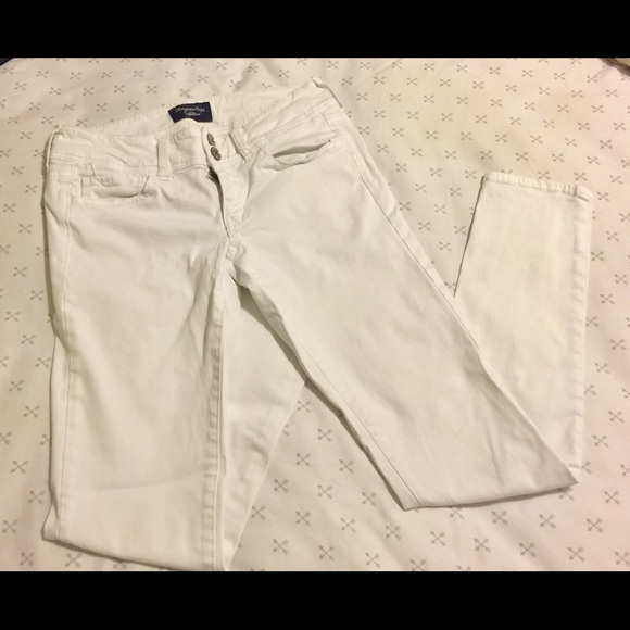 American Eagle Outfitters Denim - White pants - AE