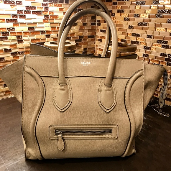 Celine Handbags - Celine mini luggage tote