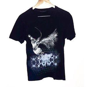 Authentic Alexander McQueen Raven Tee Size 44 (S)