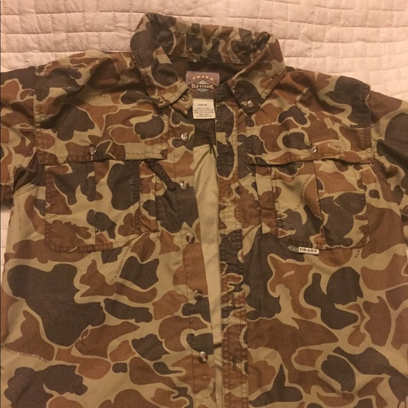 Drake Shirts Tops Old School Camo Buttondown Poshmark Inspiration Old School Camo Pattern