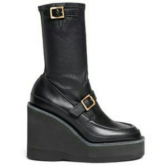 Sacai Shoes - Sacai platform wedge