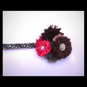 Other - Shabby floral headband infant/toddler