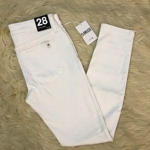 Joes white skinny raw cut Jeans