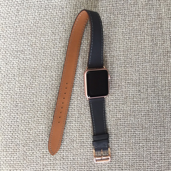 Other Rose Gold Dark Gray Apple Watch Double Tour Band Poshmark