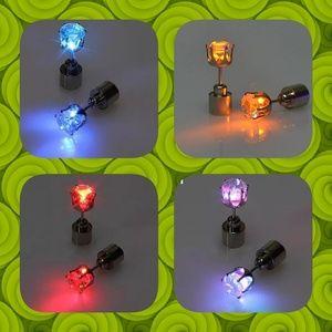 Jewelry - Light Up Stainless Steel Earrings Led Ear Studs