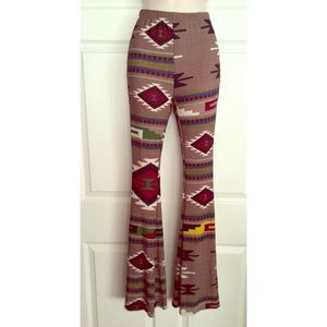 Pants - Boho Tribal Chic Maxi Vintage Flare Comfy Pants