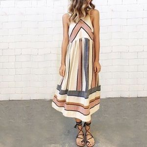 Dresses & Skirts - stripe midi dress DR109