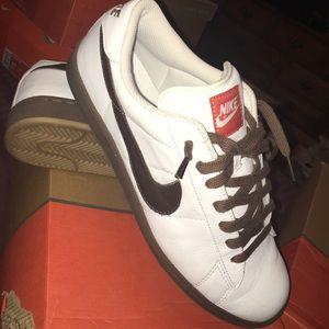 Nike Tennis Classic Sz 11 (White/Brq Brown-Med Brown)
