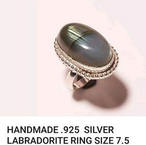 Jewelry - Amazing LABRADORITE STONE sterling silver setting