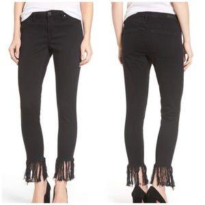 BLANKNYC Super Fray Hem Skinny Jeans