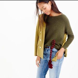 J. Crew lavender Slouchy boatneck sweater medium
