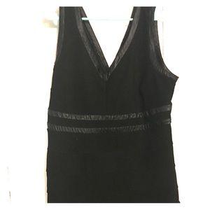 Torrid size24 black w/ leather trim bodycon dress