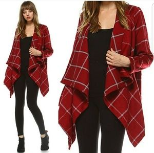 ****HOST PICK ***Maroon Waterfall jacket