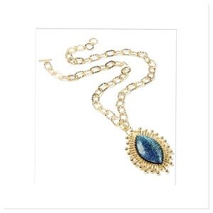 Blue East Hampton Star Pendant Necklace
