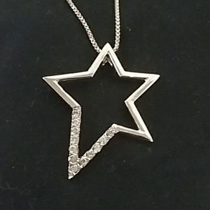 Jewelry - Sterling Crystal Star Necklace - NEW