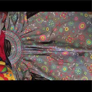 Other - Le Za Me smocked grey dress
