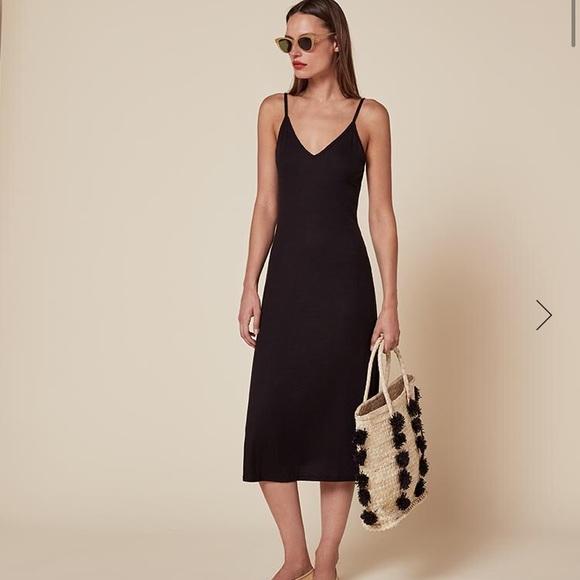 904e2580e64 Reformation Amelia Cami Black Midi dress S. M 598ef5736d64bcabb70bdbe6