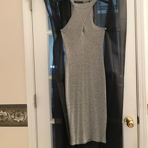 Dresses & Skirts - Sexy peep hole gray dress
