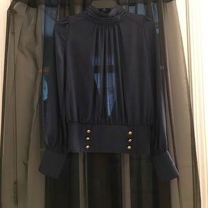 Tops - Long sleeves navy blue top