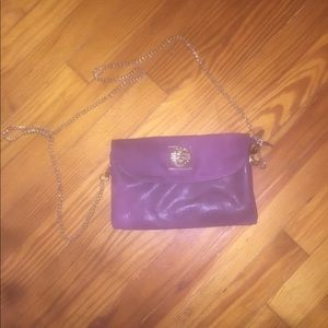 Handbags - Purple chain-link strap purse