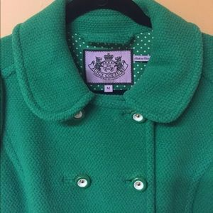 Green Juicy Couture Peacoat
