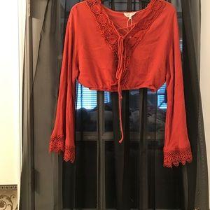 Tops - Cute crop top blouse or top!