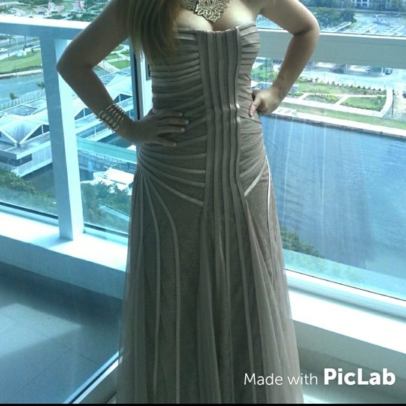 18e36ab75360 BCBGMaxAzria Dresses | Bcbg Maxaria Magnolia Blush Gown Prom Gala ...