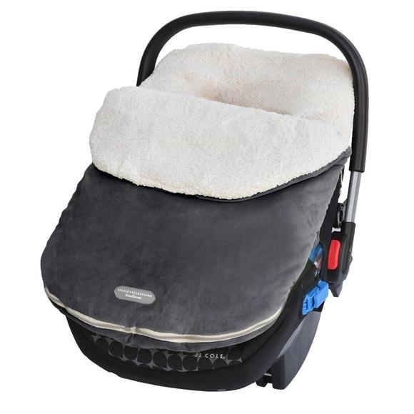 Wondrous Jj Cole Bundle Me Fleece Car Seat Cover Cjindustries Chair Design For Home Cjindustriesco