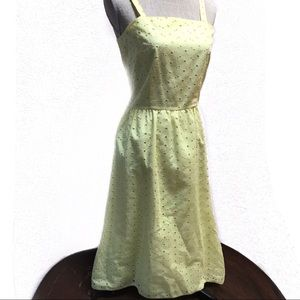 Vintage Givenchy Eyelet Sun Dress Yellow