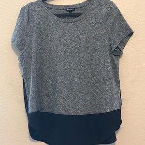 Tops - Express colorblock gray and black top