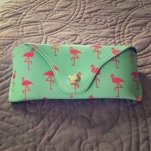 Flamingo sunglasses case