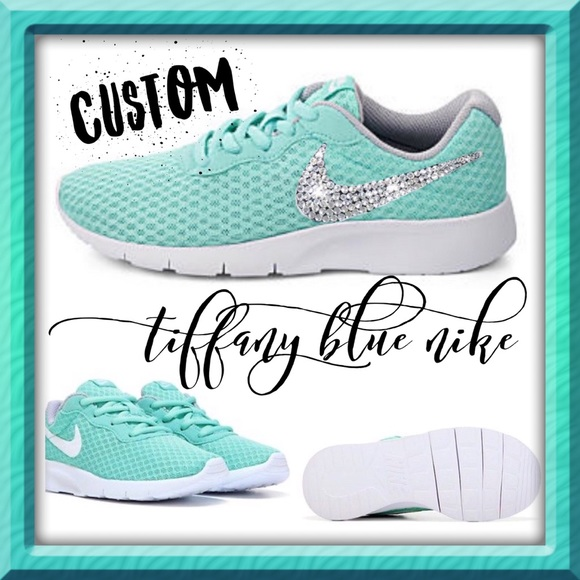 18c7ac0c473d Tiffany Blue sz8 CUSTOM BLING NIKE