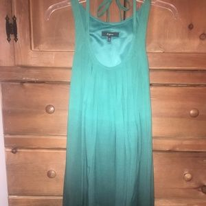 Express Bubble Dress Green Ombre