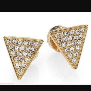 "Michael Kors Jewelry - Michael Kors Gold Tone ""Diamond"" Triangle Earrings"