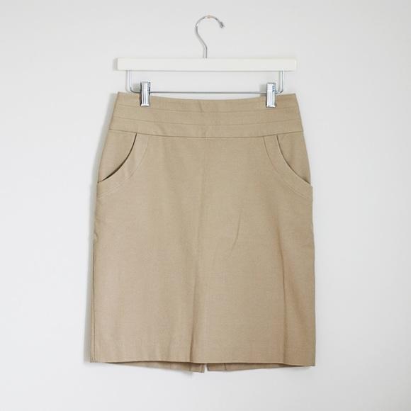 Banana Republic Dresses & Skirts - Banana Republic Khaki Brown Stretch Pencil Skirt 0