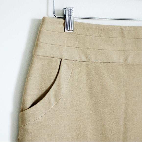 Banana Republic Skirts - Banana Republic Khaki Brown Stretch Pencil Skirt 0