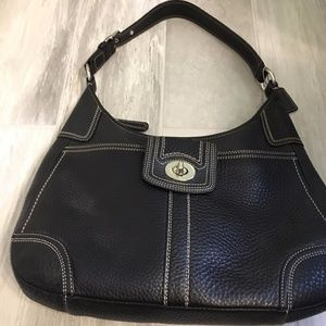 Coach Black Pebbled Hobo Bag Like New Authentic