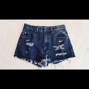 BDG High Waisted Black Jean Shorts from UO