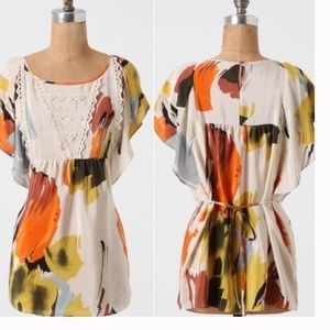 Anthropologie printed boho top Sz 4