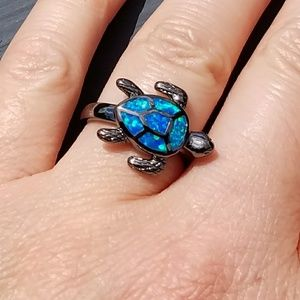 Jewelry - New Turtle ring, Turtle jewelry, fire opal ring