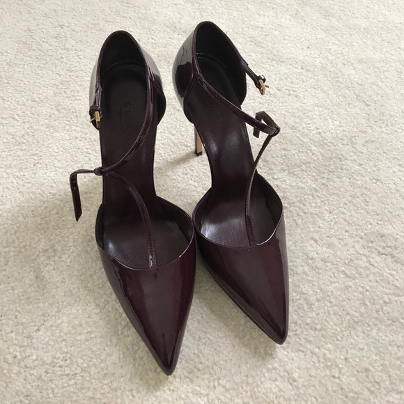 3f1deea5d58 Gucci Pump - Brooke T Strap High Heel in Burgundy