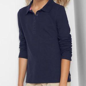 Gapkids girl sz 8 (m) plus navy lng sleeve uniform